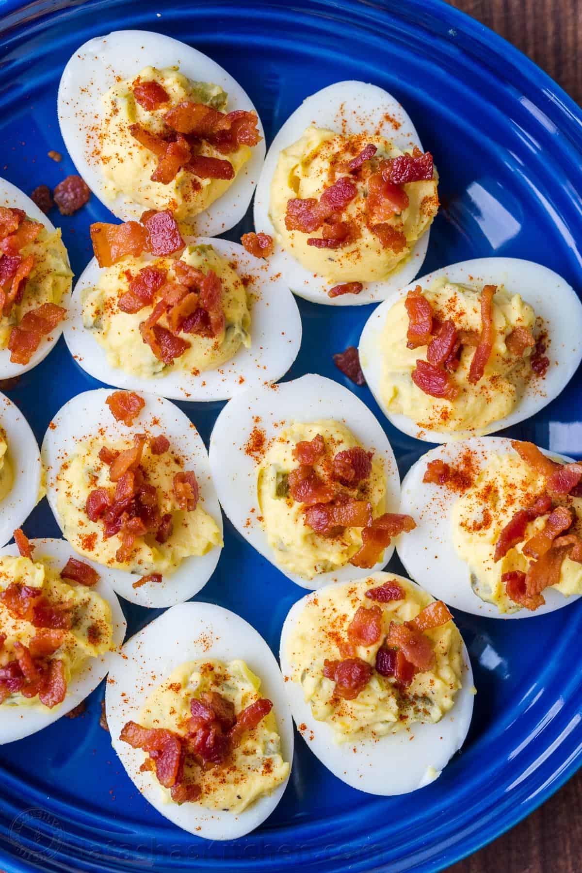 Deviled Eggs With Bacon - Natashaskitchen.Com