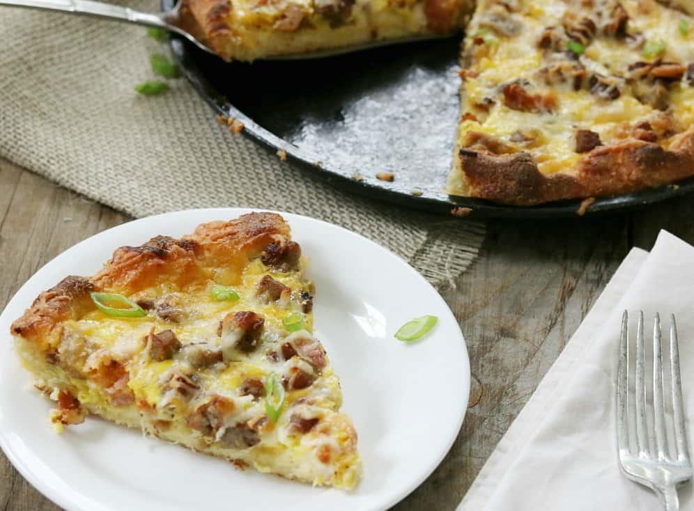 Keto Breakfast Pizza - Meat Lover's Style!