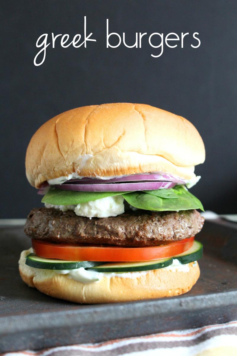 Burger (beef Or Lamb): Greek Style
