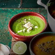 Broccolini, Spinach & Avocado Soup