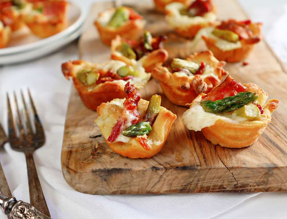 Brie Bites With Bacon & Asparagus