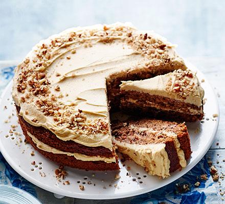 Maple, Apple & Pecan Cake