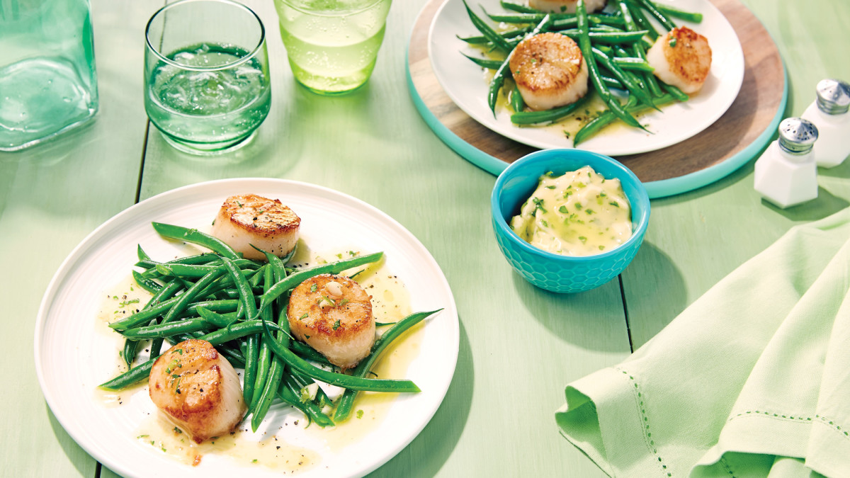 Scallops With Cilantro Lime Butter