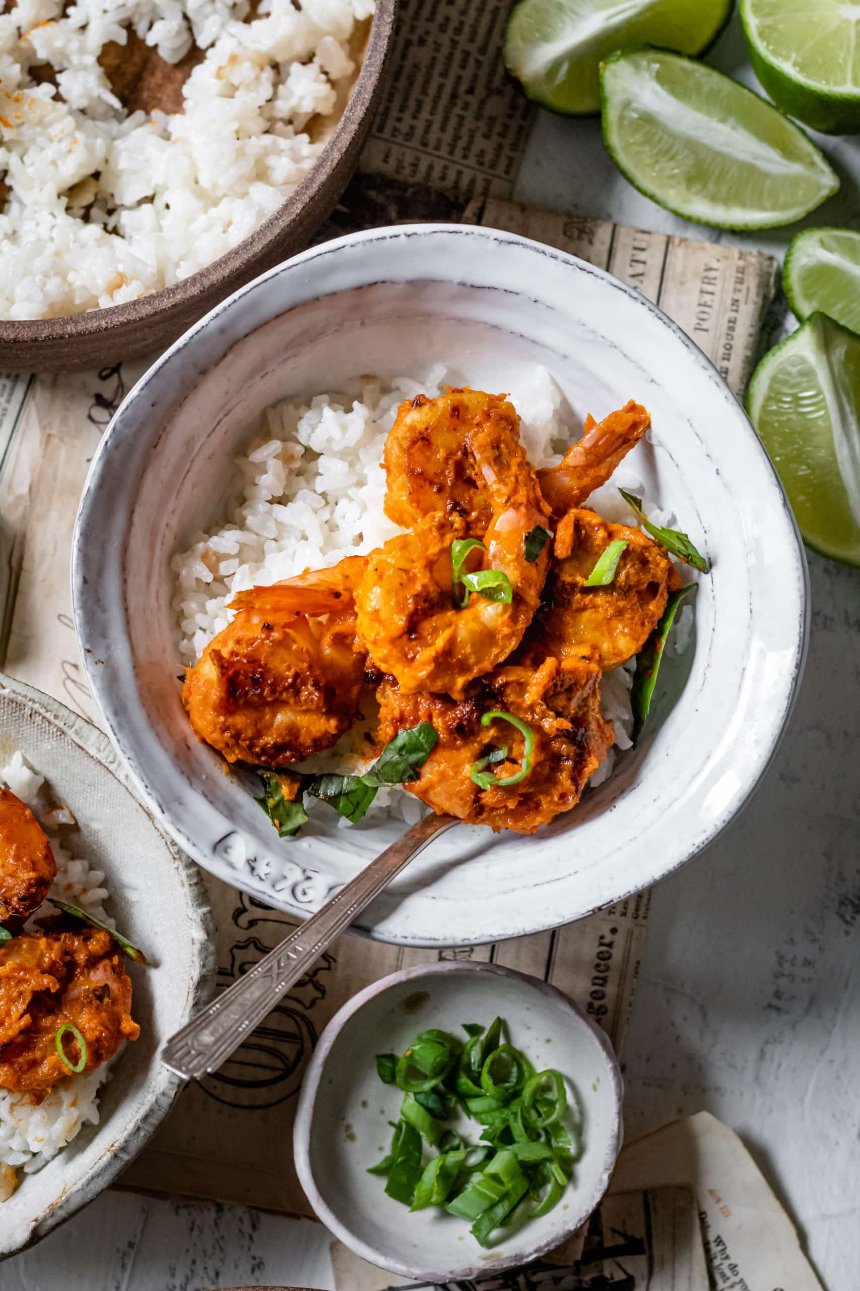 Spicy Lemongrass Shrimp With Coconut Rice - Cooking Therapy