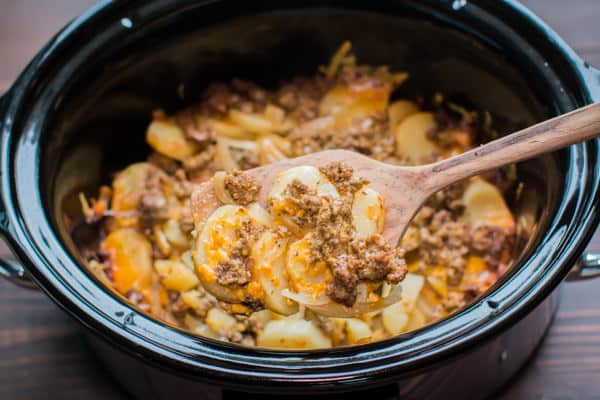 Ground Beef: Slow Cooker Beef and Potato Au Gratin
