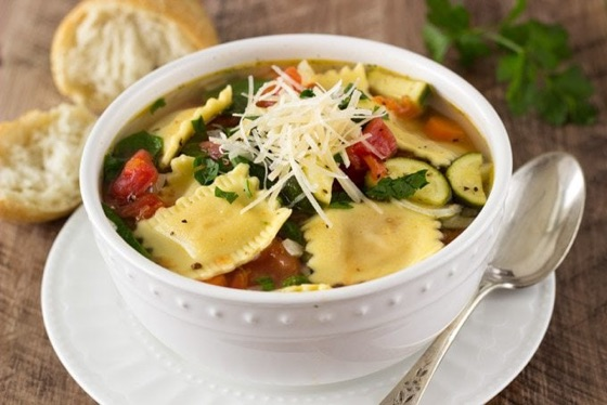 Ravioli & Vegetable Soup