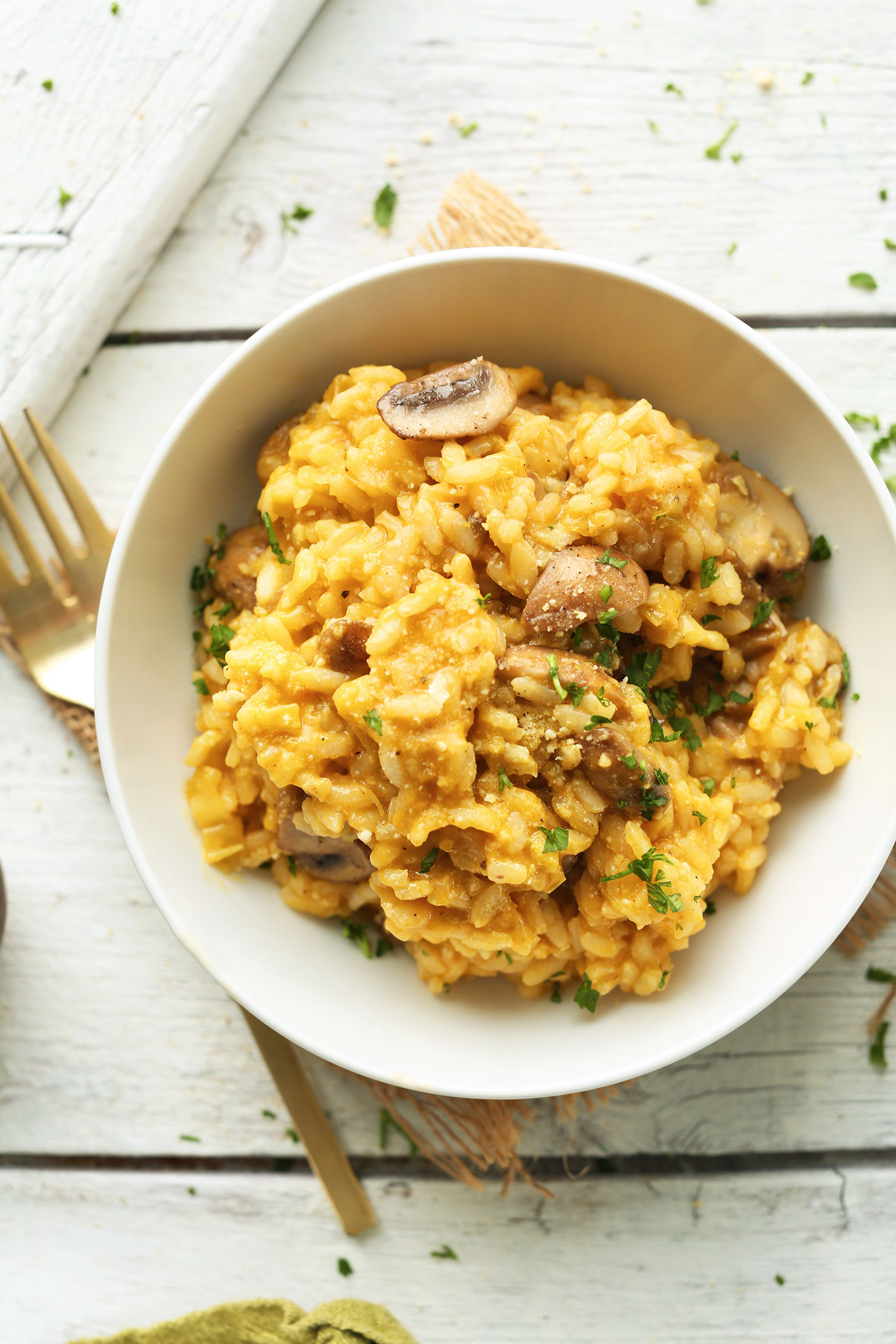 Mushroom And Leek Risotto (Vegan + Gf) | Minimalist Baker Recipes