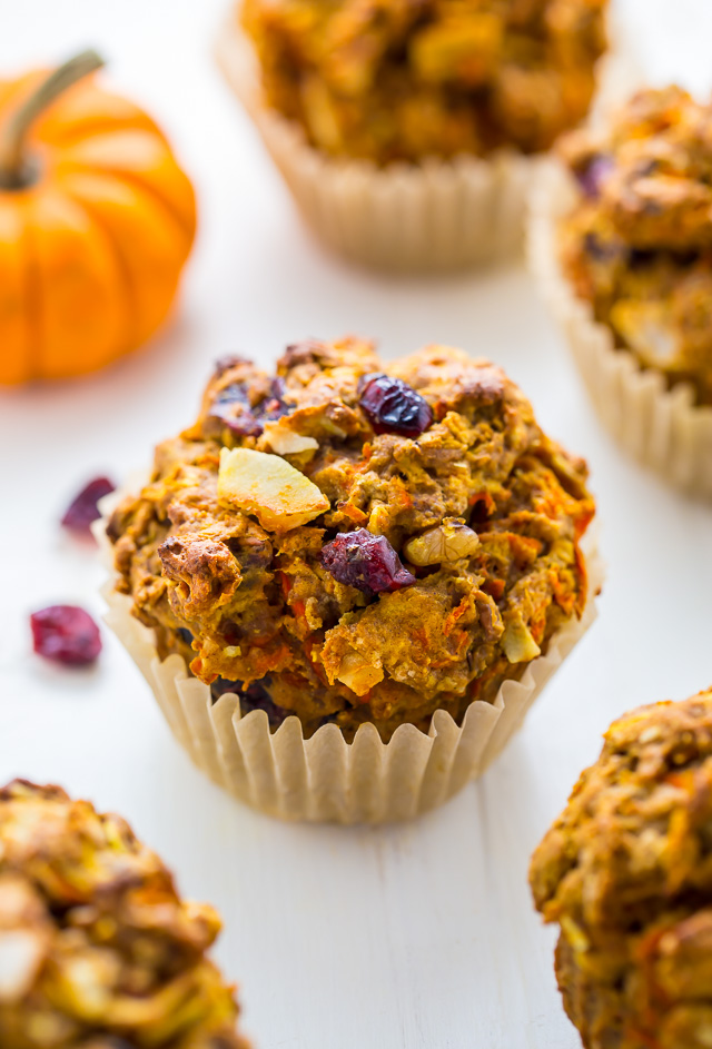 Pumpkin Morning Glory Muffins - Baker By Nature