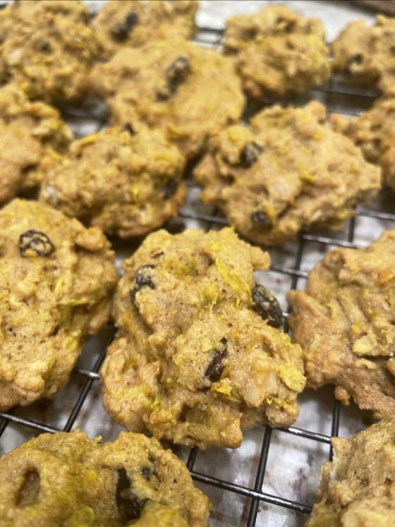 Healthy-ish Beet Oatmeal Cookies