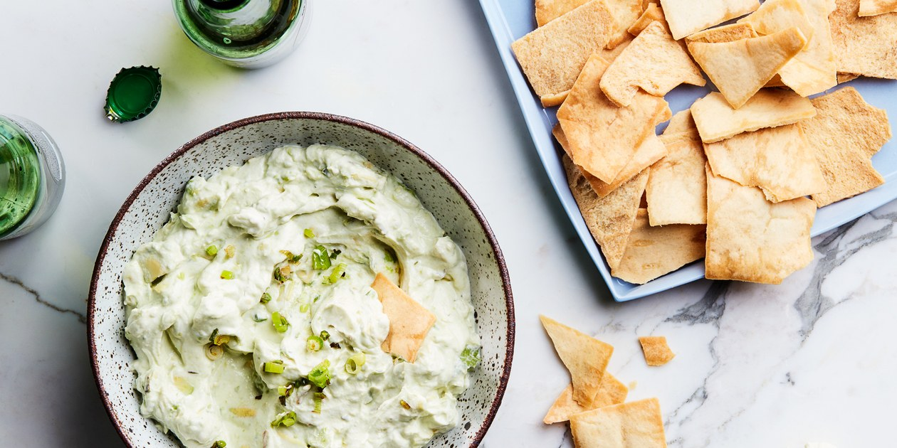 Creamy Avocado Dip with Scallions