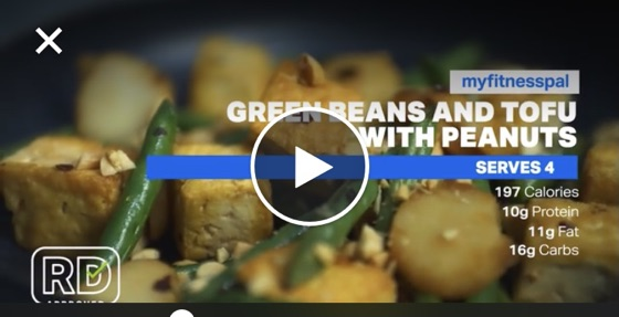 Tofu with Green Beans