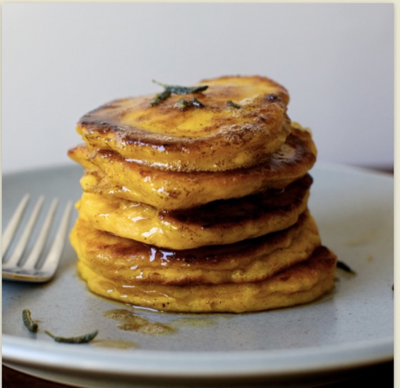 Winter Squash Pancakes With Crispy Sage & Brown Butter