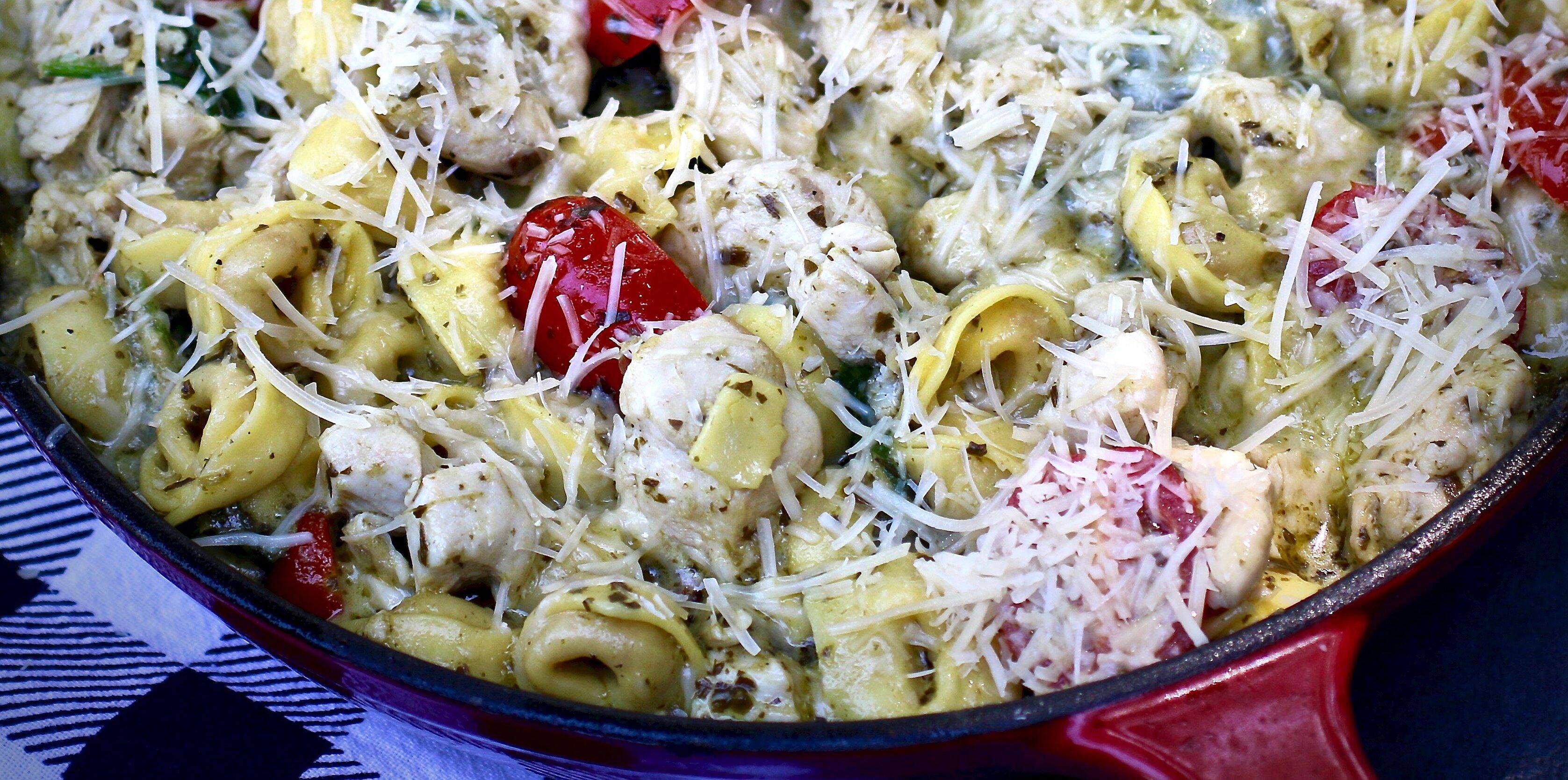 Chicken Breast: Tortellini Pesto Skillet