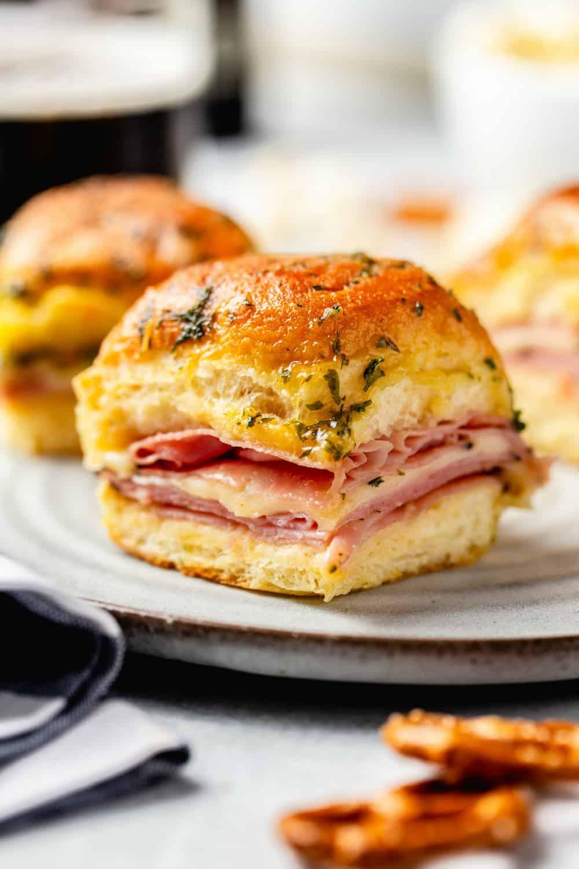 Sandwich: Hot Ham And Cheese Sliders