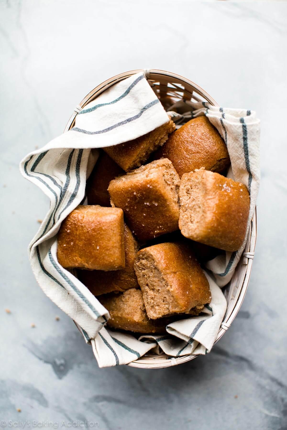 Honey Whole Wheat Dinner Rolls   Sally's Baking Addiction