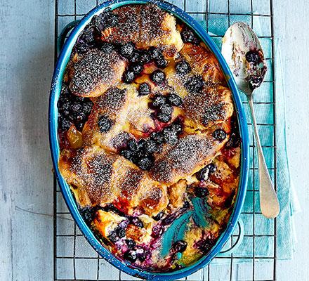 Blueberry & Lemon Croissant Bake