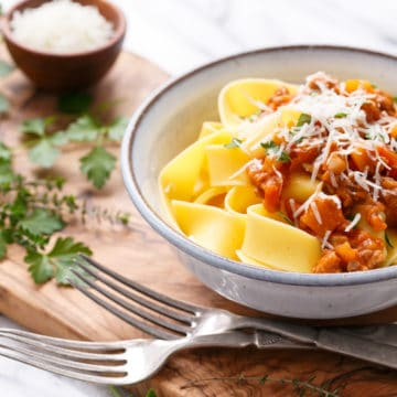 Pumpkin Bolognese With Pappardelle | Love And Olive Oil