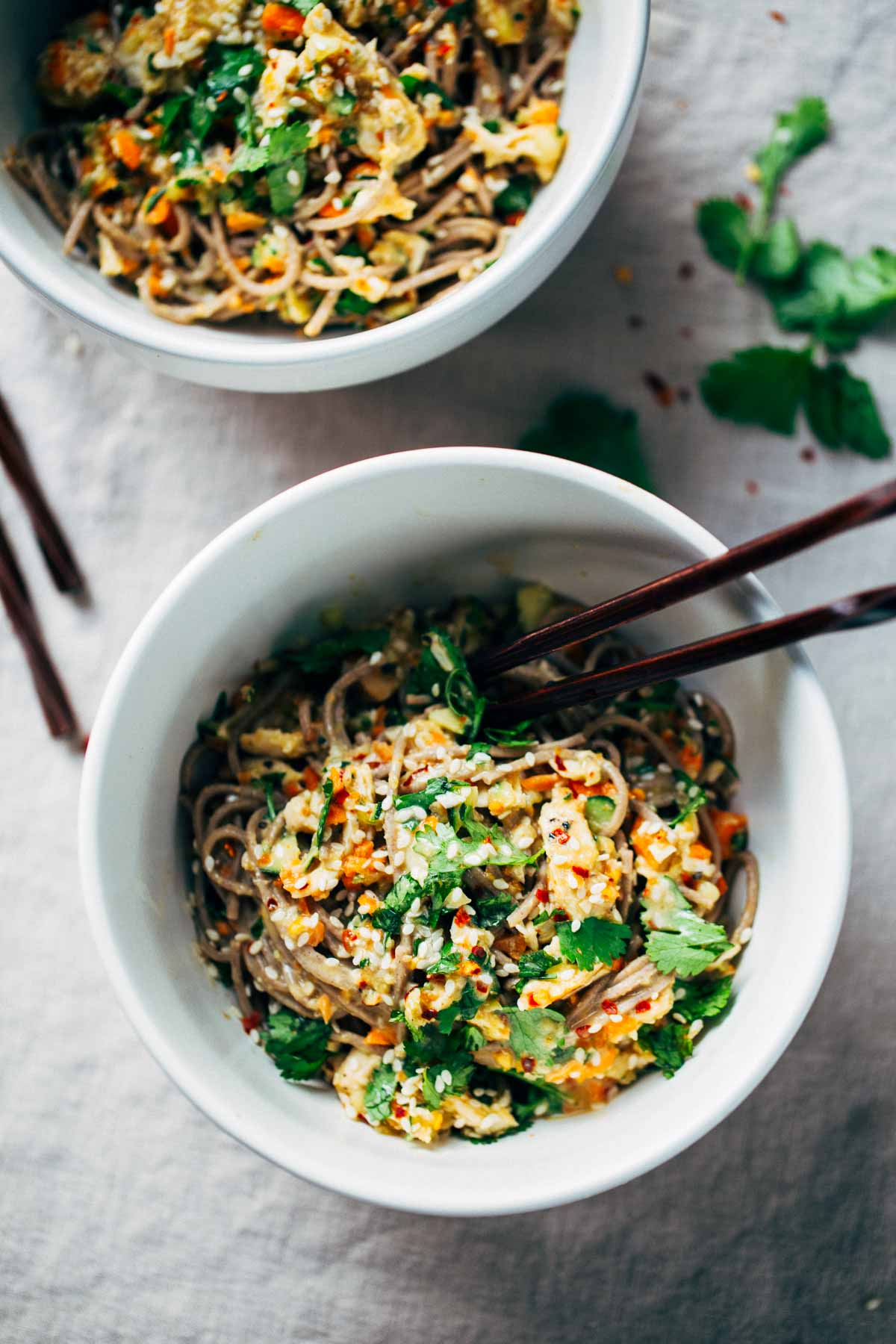CHICKEN—Chopped Chicken Sesame Noodle Bowls