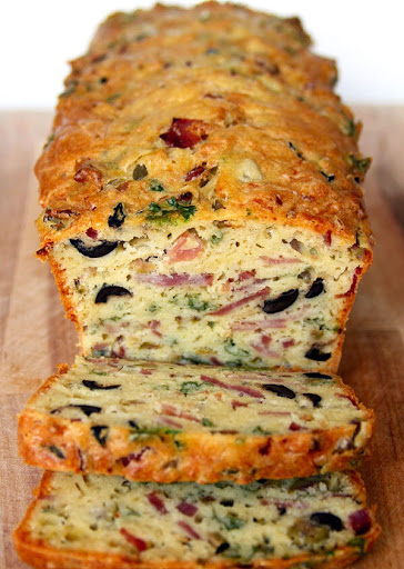 Olive, Bacon & Cheese Bread