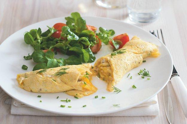 Vaječná Omeleta Se Salátkem