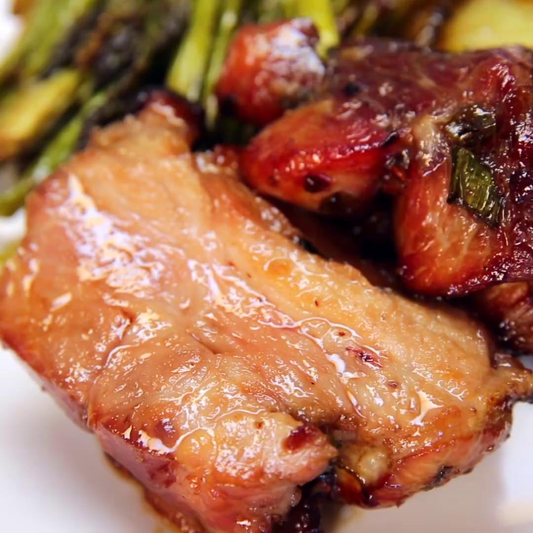 Pork Shoulder: Slow-Roasted Honey Glazed