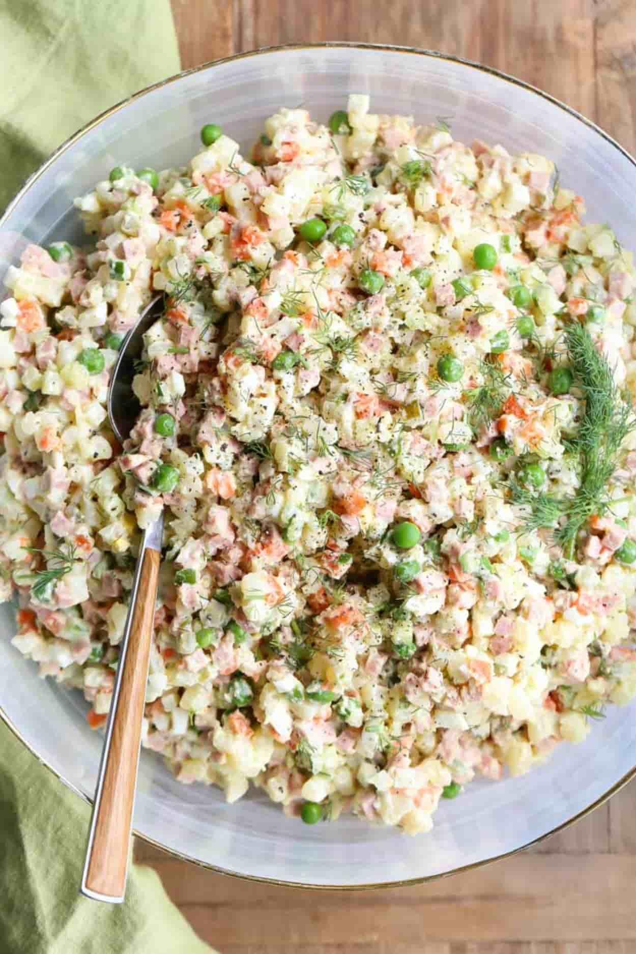 Olivier Salad Recipe (Russian Potato Salad) - Valentina's Corner