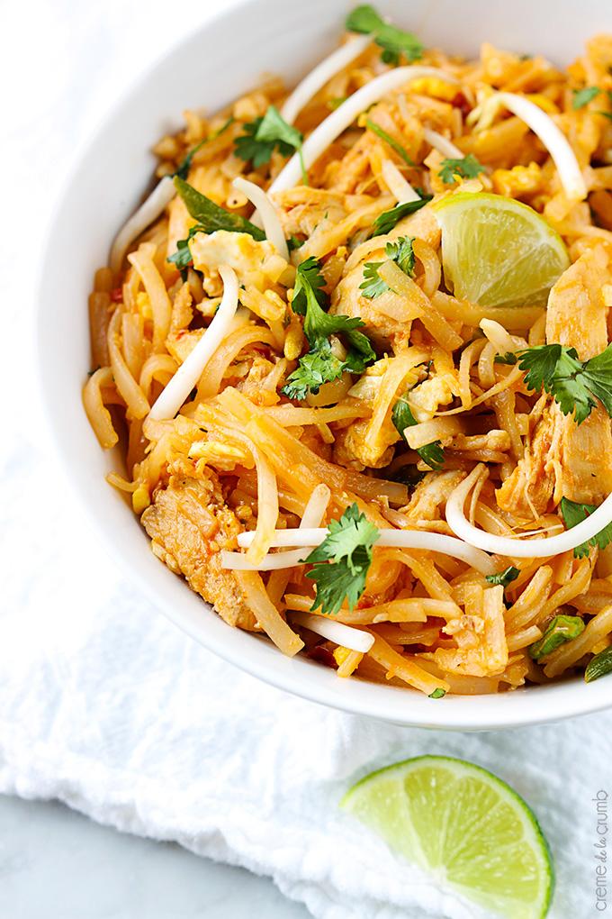 Chicken Pad Thai | Creme De La Crumb