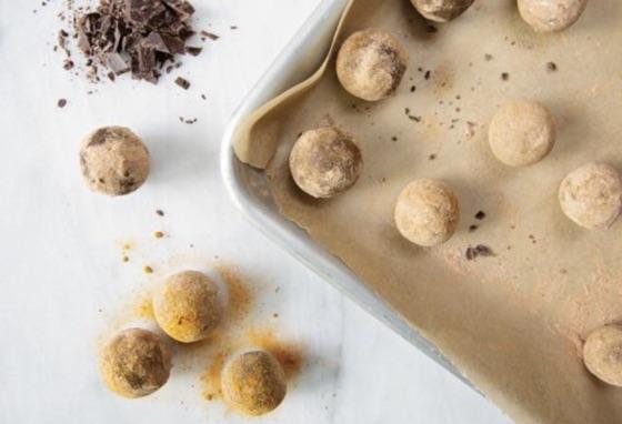 Chocolate Turmeric Truffles