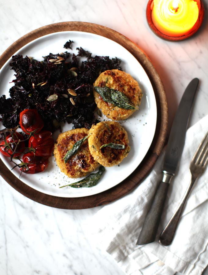 Spaghetti Squash Baby Cakes With Crispy Sage - My New Roots