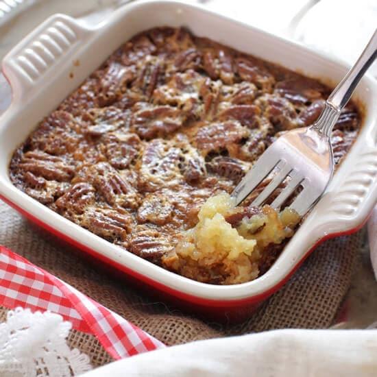 Easy Pecan Pie Recipe   Single Serving Dessert   One Dish Kitchen