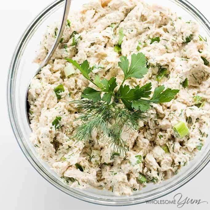 Easy Keto Low Carb Chicken Salad Recipe - Paleo