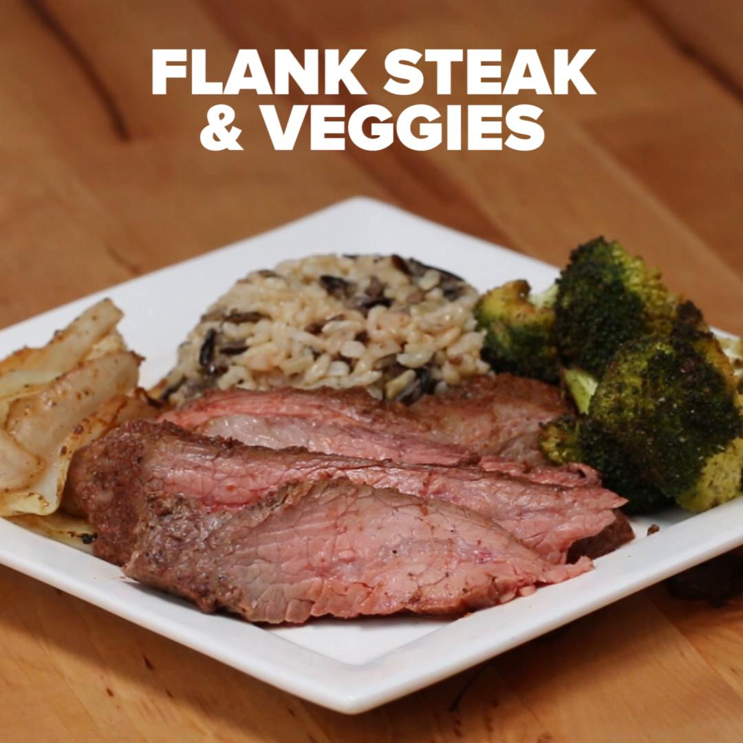One-Pan Flank Steak & Veggies Recipe By Tasty