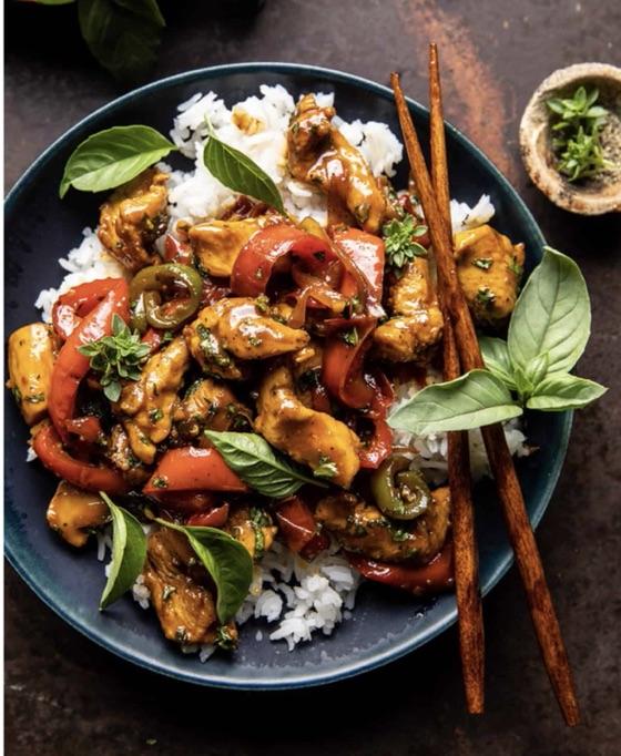 25 Minute Black Pepper Jalapeño Basil Chicken Stir Fry.