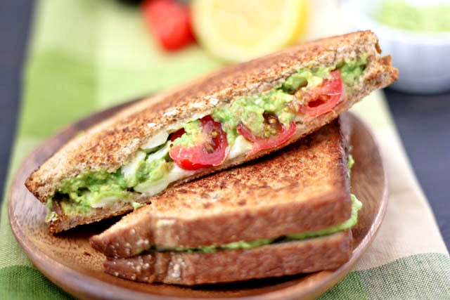 Avocado, Cheese & Tomato Grilled Cheese