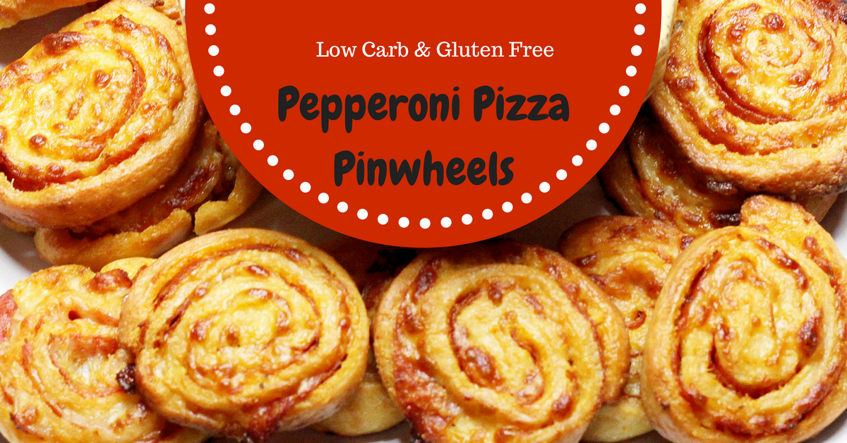 Pepperoni Pizza Pinwheels, Low Carb, Gluten Free, Thm