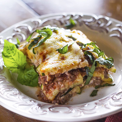 Parmesan Zucchini Lasagna- Trim Healthy Mama Compliant | Once A Month Meals