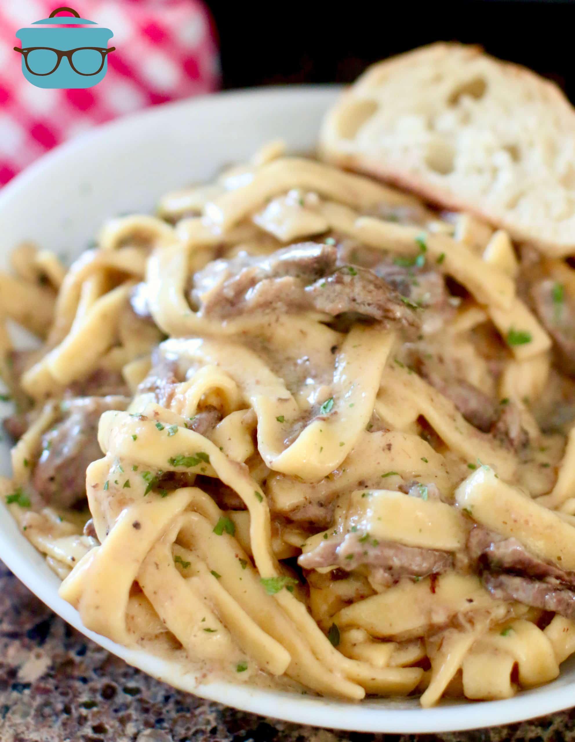 Chuck Roast: Slow Cooker Garlic Beef & Noodles