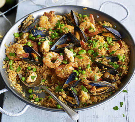 Seafood paella Katy Greenwood