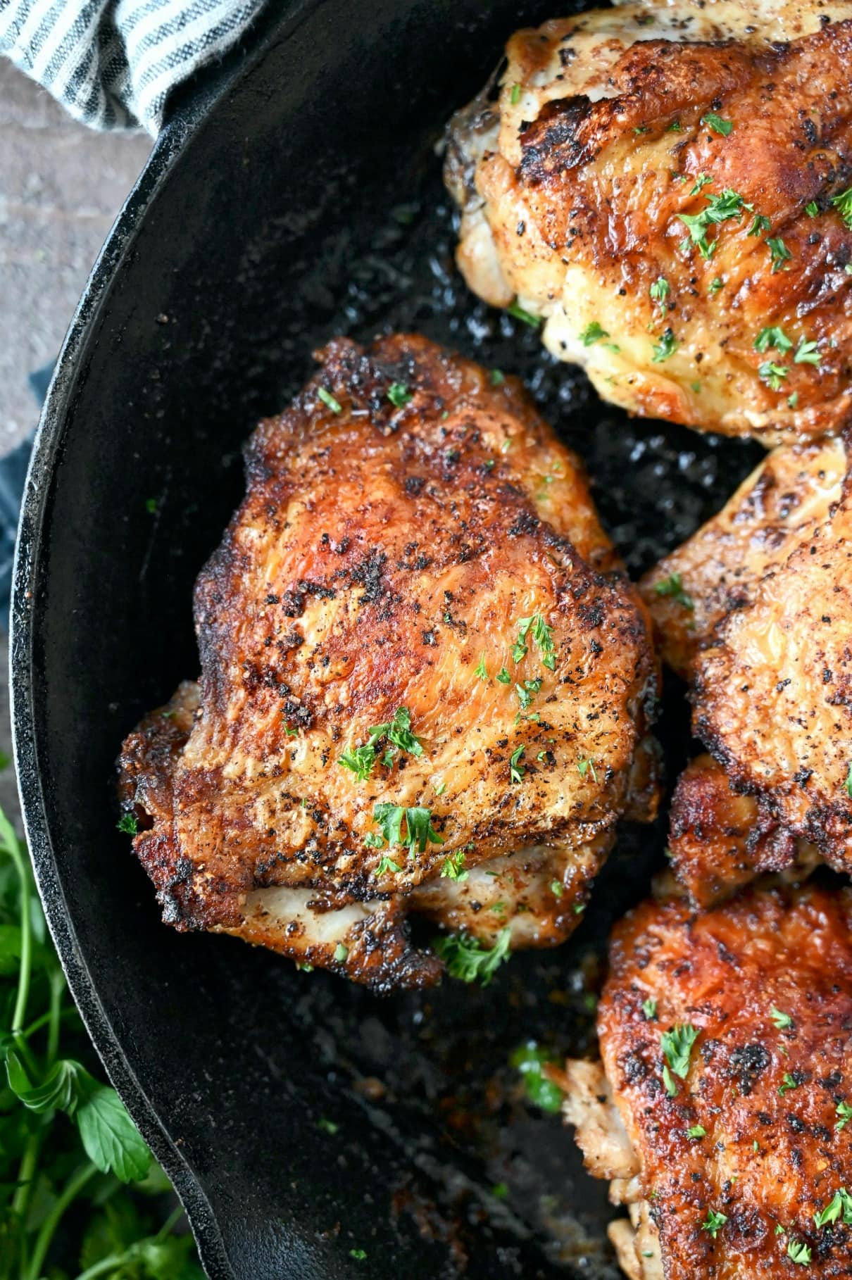 Chicken Thighs: Crispy Skillet