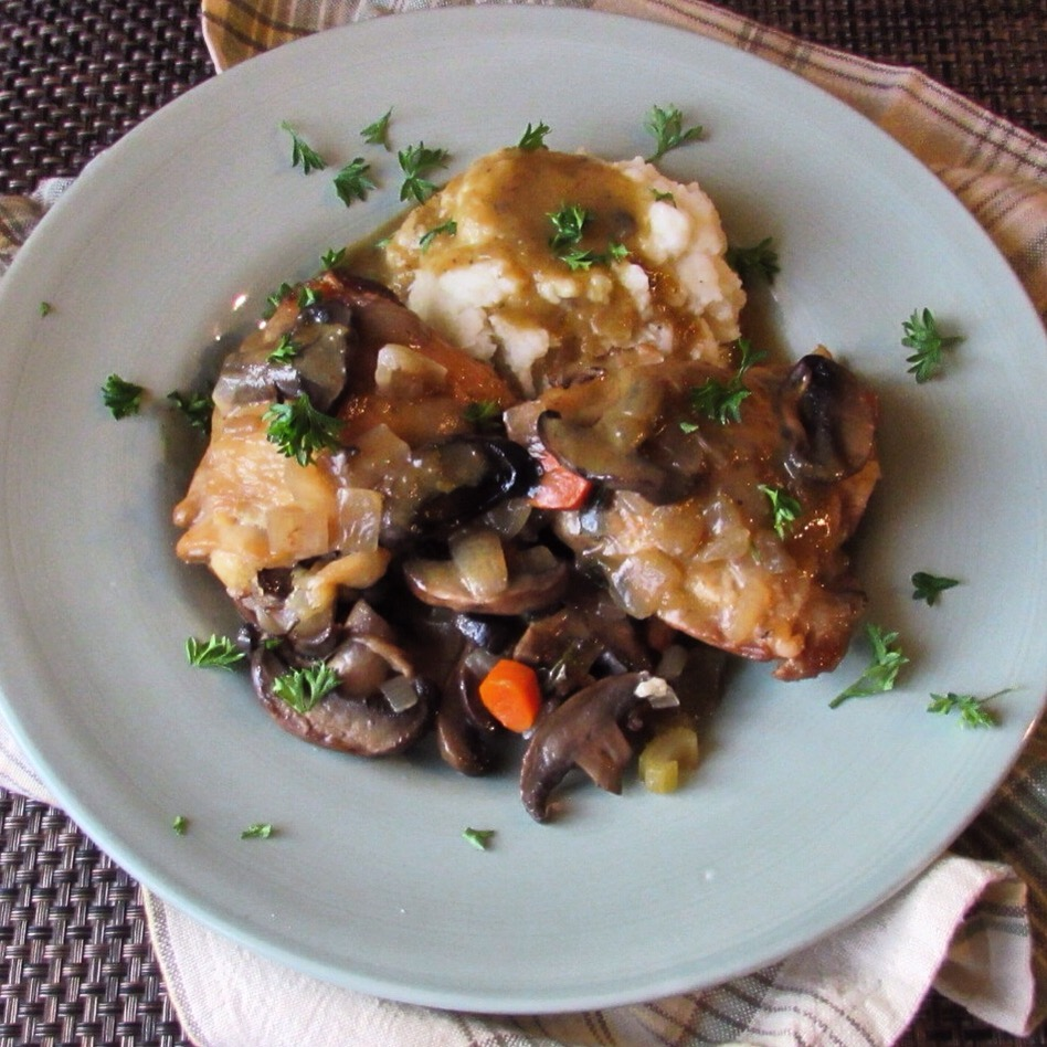 Aip Paleo Slow Cooker Sage Chicken With Mushroom And Herb Gravy Recipe