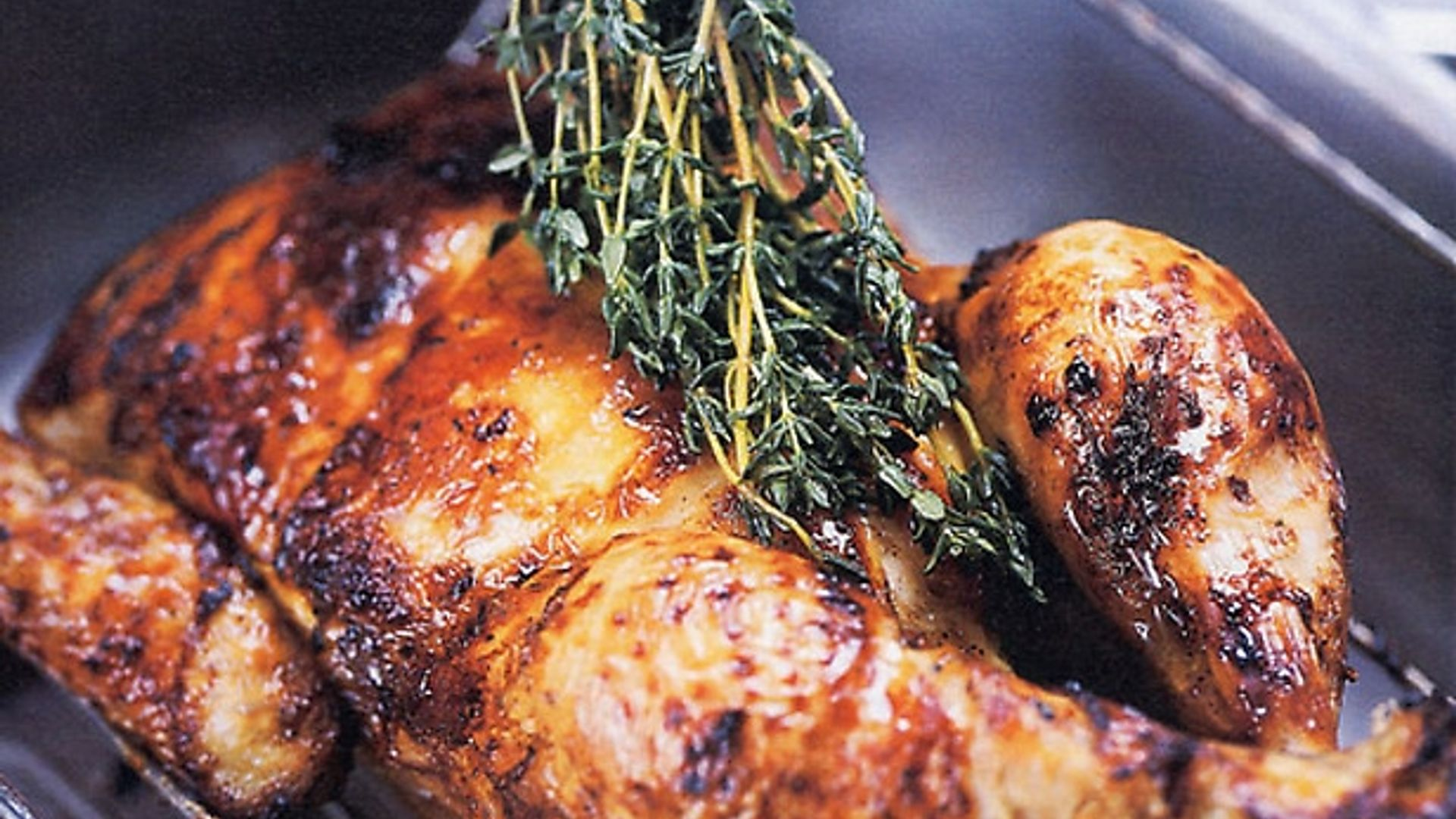 Provencal Roasted Chicken With Honey And Thyme