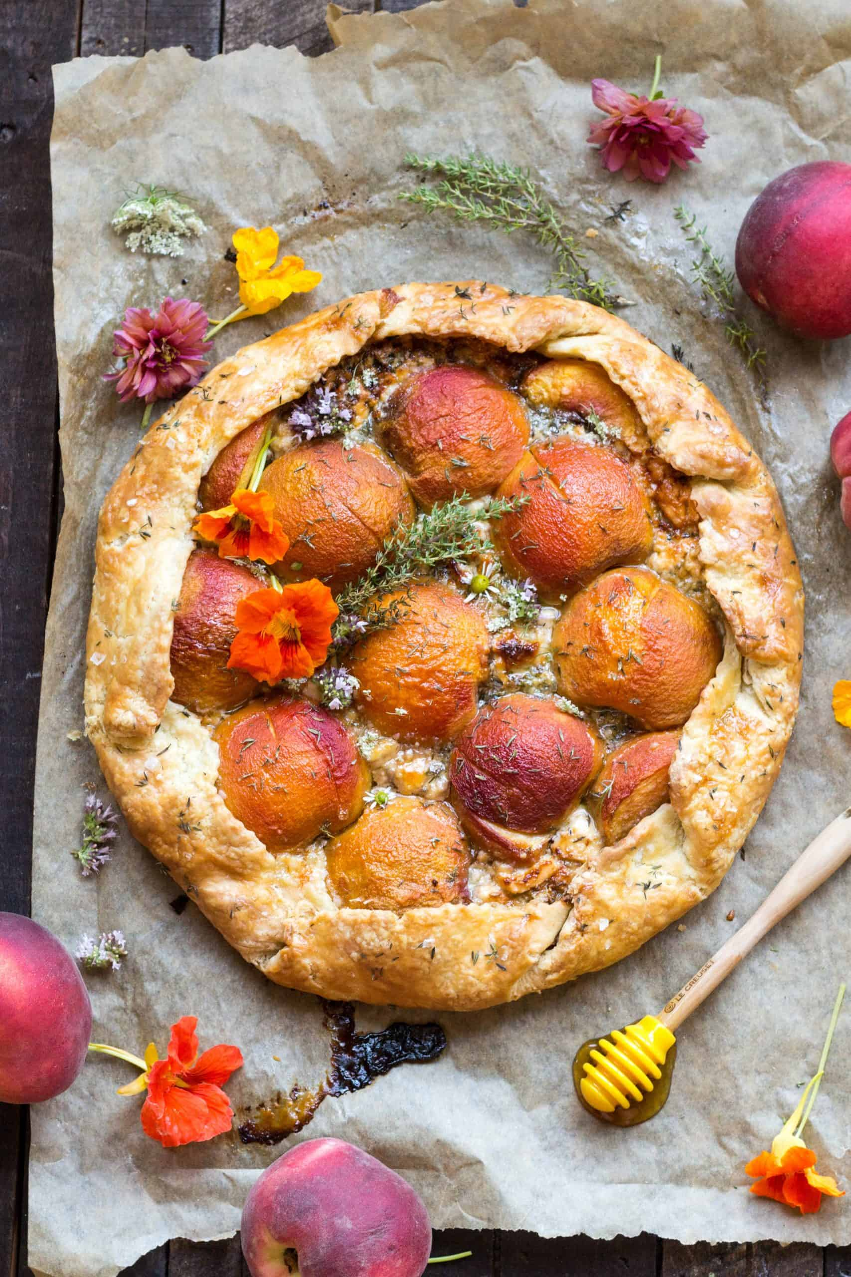 Savory Peach Galette With Blue Cheese + Caramelized Shallots | Coley Cooks