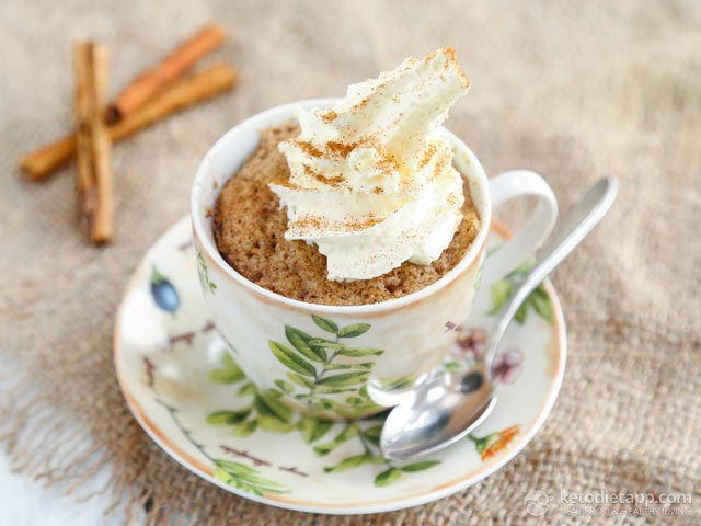 Cinnamon Keto Mug Cake | The Ketodiet Blog