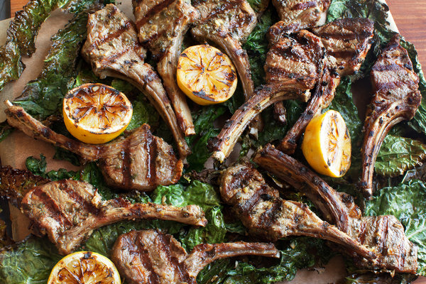 Lamb Chops Scottadito With Crispy Kale
