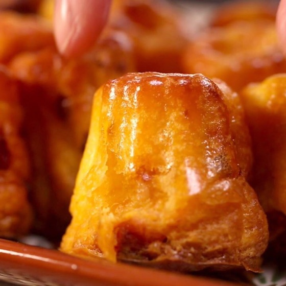 Mini Cannelés Chorizo Parmesan