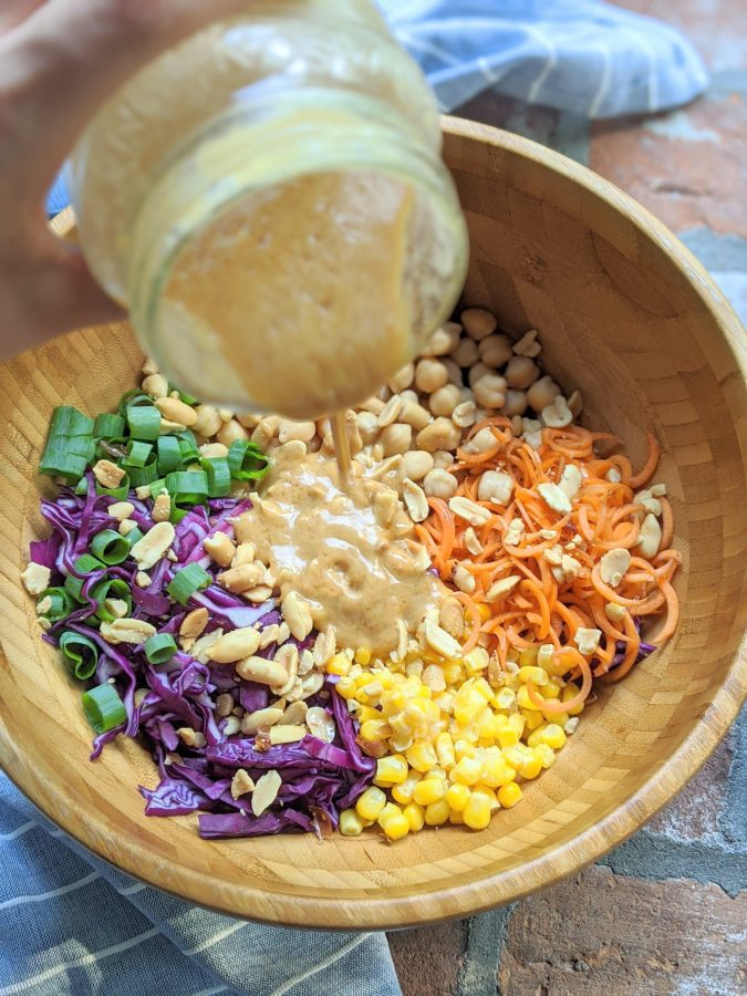 Thai Chickpea Salad With Peanut Sauce Dressing (Vegan, Gluten Free)