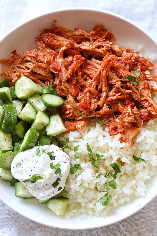 Easy Shredded Harissa Chicken Recipe | Skinnytaste
