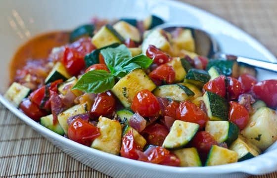 Sautéed Zucchini And Cherry Tomatoes