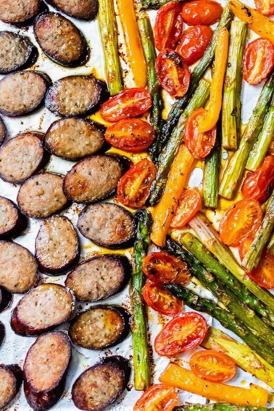 Low-Carb (Keto) Kielbasa Veggie Sheet Pan Dinner - Skinnytaste