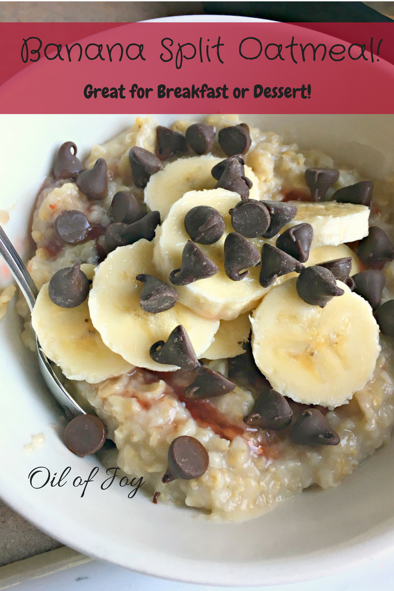 Banana Split Oatmeal THM E Breakfast